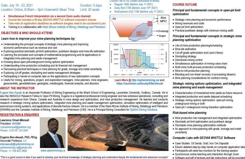 210302 Mine Optimization Professional Development Course - Africa